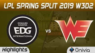 EDG vs WE Highlights Game 1 LPL Spring 2019 W2D3 Edward Gaming vs Team WE by Onivia