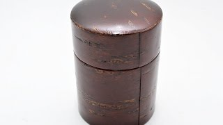 Lacquered tea caddy Natural wooden cherry bark green tea natsume chazuts  60771