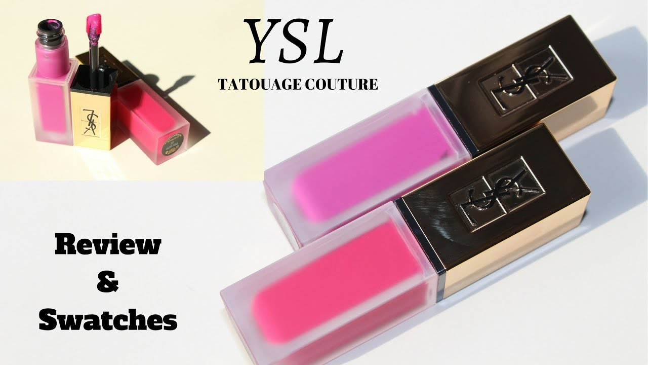 New Ysl Tatouage Couture Liquid Matte Lip Stains