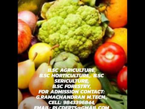 Admission for B.Sc Agriculture course in Tamilnadu