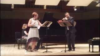 IPS 2013: Le Rossignol de l'Opera by Eugene Damaré. Peter Verhoyen & Christine Beard, piccolos
