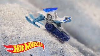Snow Stormers™ Star in SNOW DAY Stop Action! | Hot Wheels