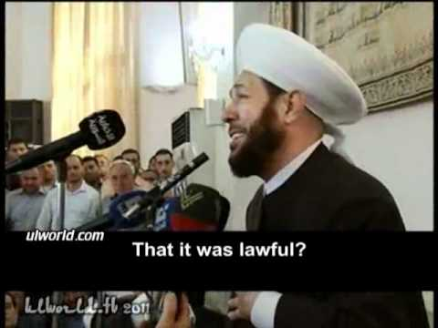 The speech of the grand mufti of Syria in his son Sarya's funeral