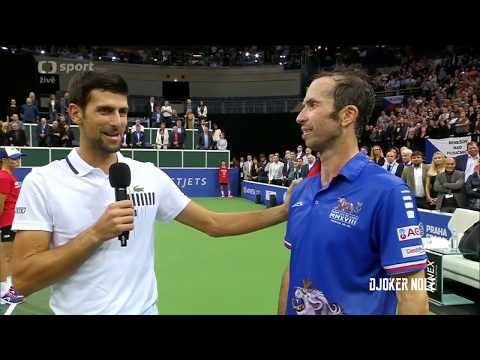 "Djokovic to Stepanek ""I LOVE YOU MAN"" - Prague 2018 (HD)"