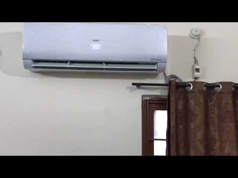Haier dc inverter 1.5 ton ups 2018 model HSU-18SNI first review on youtube