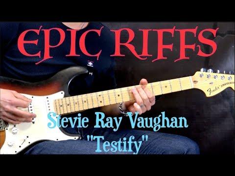 "EPIC RIFFS #1 - SRV ""Testify"" - Blues Guitar Lesson (w/Tabs)"