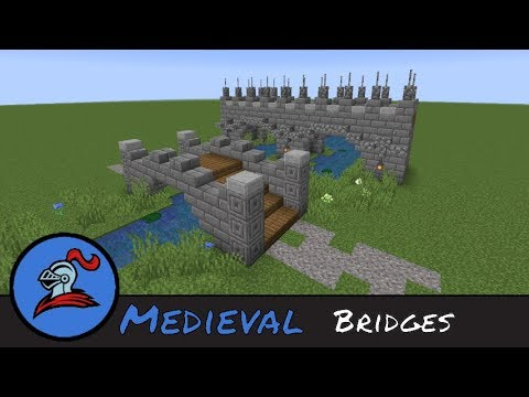 Minecraft Building Tutorial : How to build Medieval Bridges