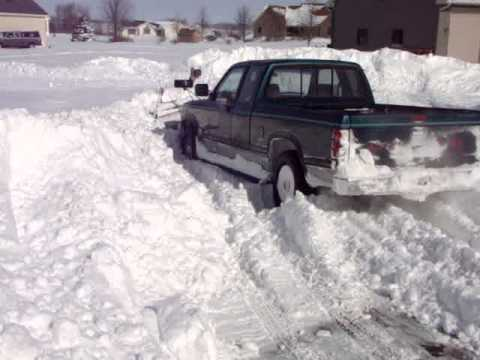 94 Dodge Dakota Plow Truck Gettin Down Youtube