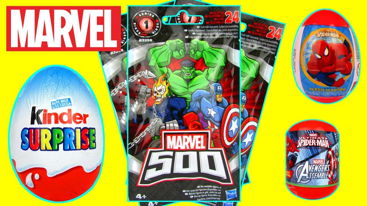 Marvel 500 Surprise Blind Bags Eggs Toys Spiderman Vs