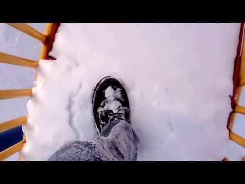 Another slide snowplow run. Playground behind McKinley Academy, in Flint, Michigan, now closed.
