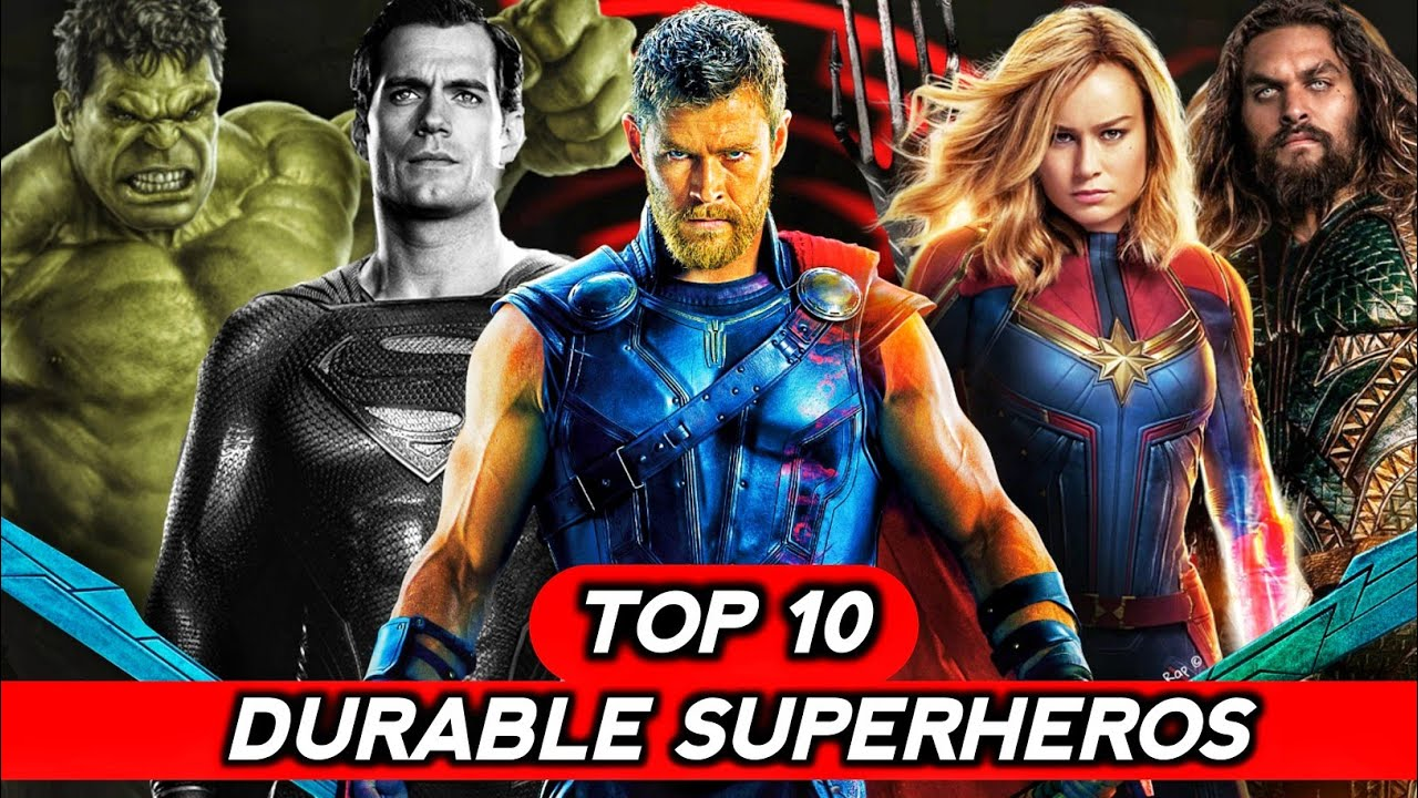 Top 10 Durable Superheroes Explained in Hindi (SUPERBATTLE)
