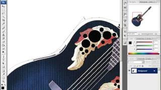 Уроки Adobe Photoshop CS3 - урок 13 - Текст в доль линии