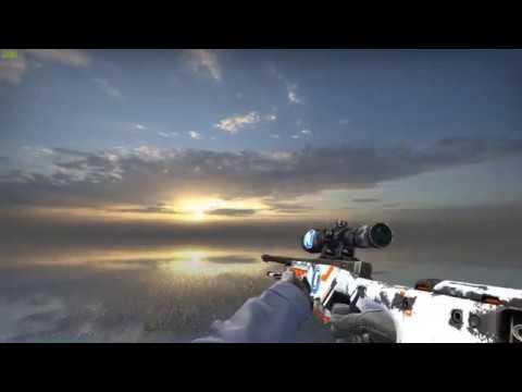 Awp asiimov nearly black scope showcase csgo youtube - Awp asiimov cs 1 6 ...