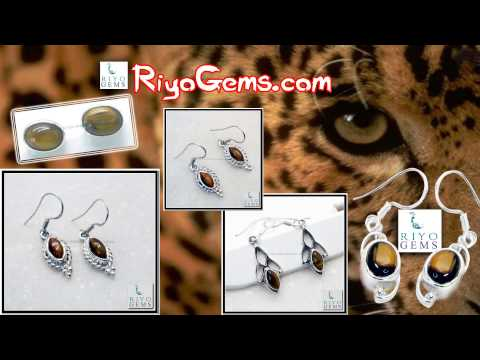 Tiger Eye Silver Earring Wholesale Supplier