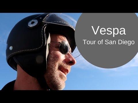 San Diego on a Vespa with Vespa Motorsport