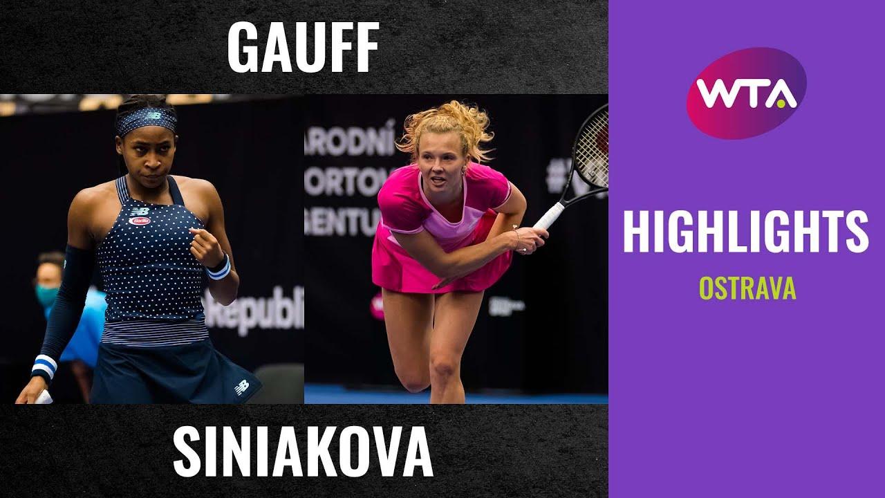Coco Gauff vs. Katerina Siniakova | 2020 Ostrava First Round | WTA Highlights