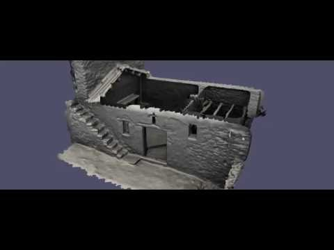 Animation of a 3D model of a traditional House (No Roof, inside) in Lemzeyen, Berber village