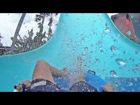 Scary Boomerang Water Slide at Waterbom Bali