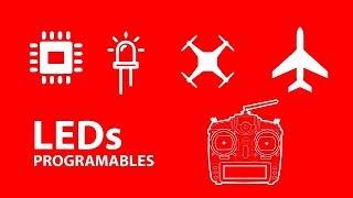 luces led rc programadas para aviones y drones