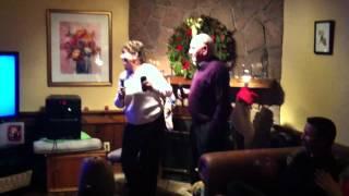 Grandma & Grandpa at Christmas Karaoke!