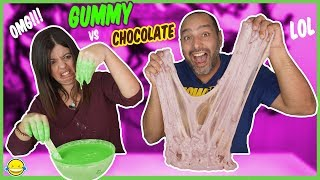 MAKING GIANT SLIME XXL GUMMY Slime vs CHOCOLATE Slime! Tutorial SLIME gigante