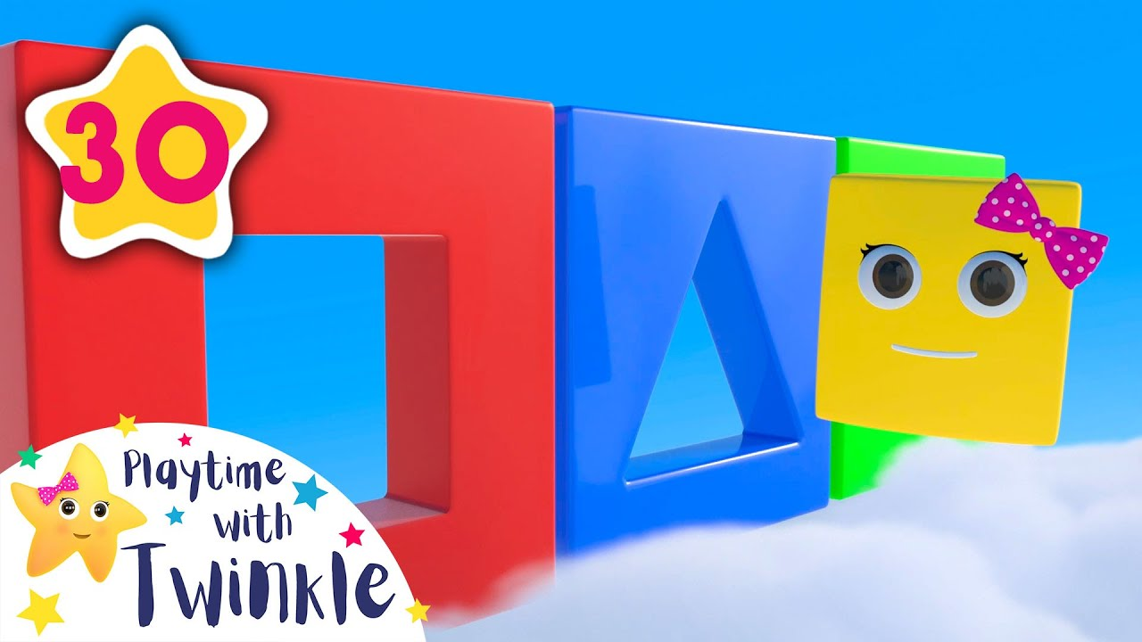 Learn Colors and Shapes Song | Kids Songs & Nursery Rhymes | ABC & 123 | Learn with Twinkle