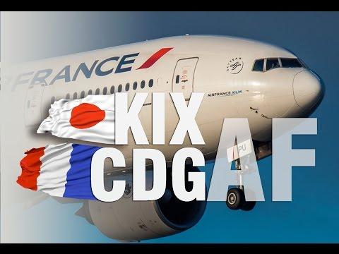 Air France B777-200 'New' Business Class | KIX - CDG |  大阪 関西 - パリ
