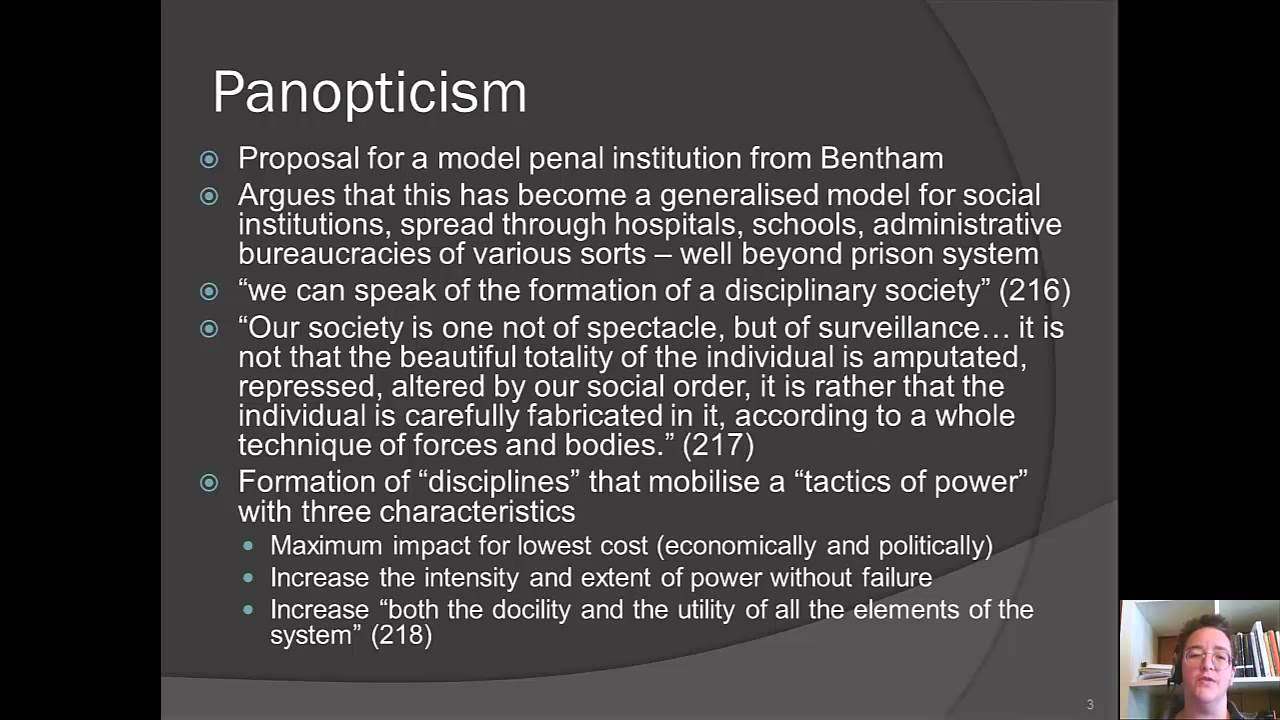 foucault disciplinary power essay Disciplinary power: panopticism  foucault saw panopticism as present in many institutions, not just the prison system  evolution writers bought essay here no .