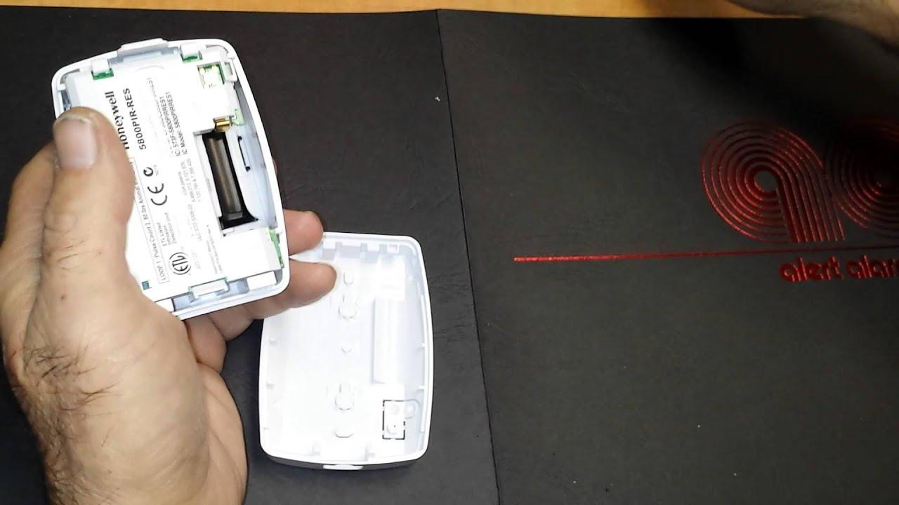 Battery Change Honeywell Motion Detector Youtube