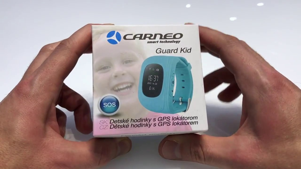 Detské GPS hodinky CARNEO GUARD KID - YouTube 5f156f45ff9