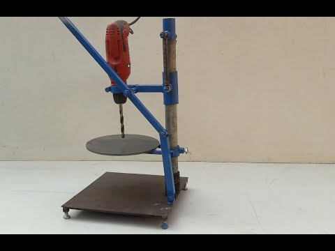 Homemade Drill Press Machine | Simple Drill Press Table from Handle Drill