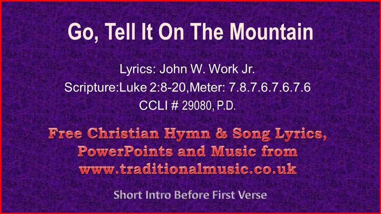 Go Tell It On The Mountain(viola section) - Christmas Carols Lyrics & Music - YouTube