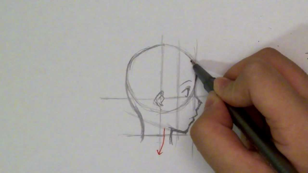 How To Draw A Manga Face Profile View