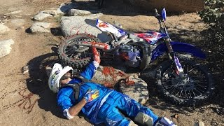 WORST DIRT BIKE CRASH EVER!!!                                                    (HELICOPTER RESCUE)