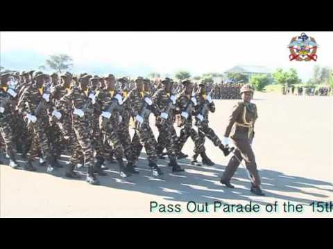 Pass out parade of Namibian Defence Force 15th recruit train