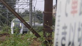 E353系 特急 あずさ 通過 (豊田車両センター付近)