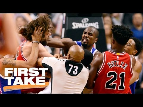 Should Robin Lopez And Serge Ibaka Be Suspended? | First Take | March 22, 2017