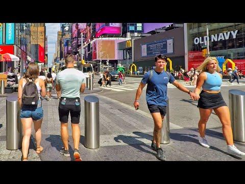 ⁴ᴷ⁶⁰ Walking Times Square Midtown Manhattan New York City 2020 (September 8, 2020)
