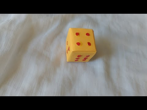 How to make a paper dice/How to create a fun dice box DIY craft tutorial guidecentral/Step by step