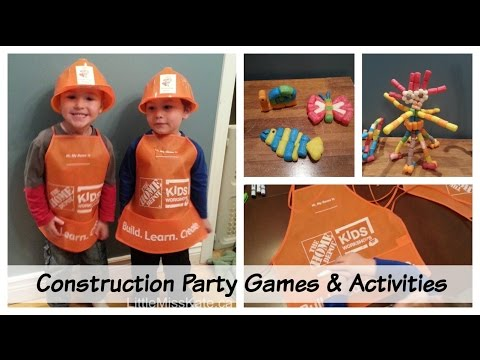 Birthday Party Ideas Construction Birthday Party Games And Activities Youtube