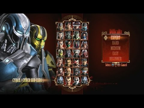 Mortal Kombat 9 - Expert Tag Ladder (Cyrax & Cyber Sub-Zero/3 Rounds/No Losses)