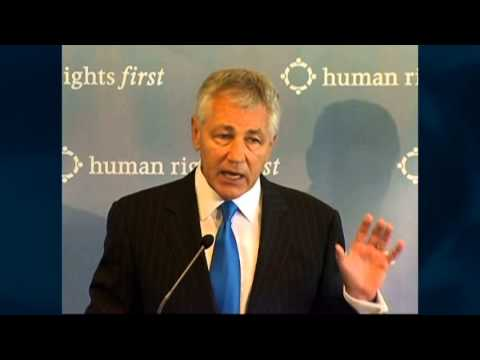 Secretary of Defense Nominee Chuck Hagel on Human Rights and National Security