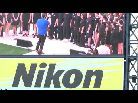 Webber Middle School Mets opening national anthem