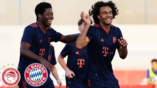 Joshua Zirkzee scores 3 Goals | Olympiakos Piräus vs. FC Bayern 0-4 | Highlights - UEFA Youth League