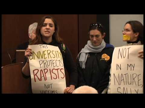 UI President Sally Mason interrupted by protests over sexual assaults