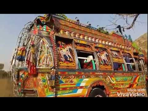 Haripur Hazara bedford buses DNA3972 in jabbar chowk
