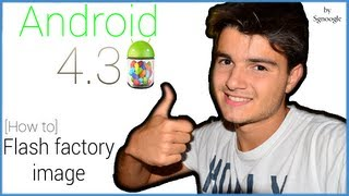 how to flash android 4 3 jelly bean factory image sul proprio nexus