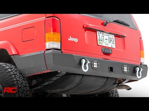 Jeep Cherokee XJ Rear LED Bumper by Rough Country