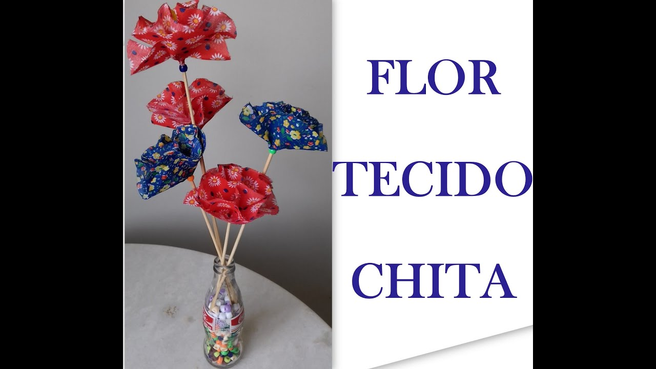 Flores De Tecido Flor De Chita Aprenda Como Fazer Passo A