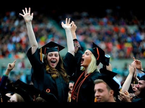 360 Video: Clips from Oregon State University's 147th Commencement Ceremony